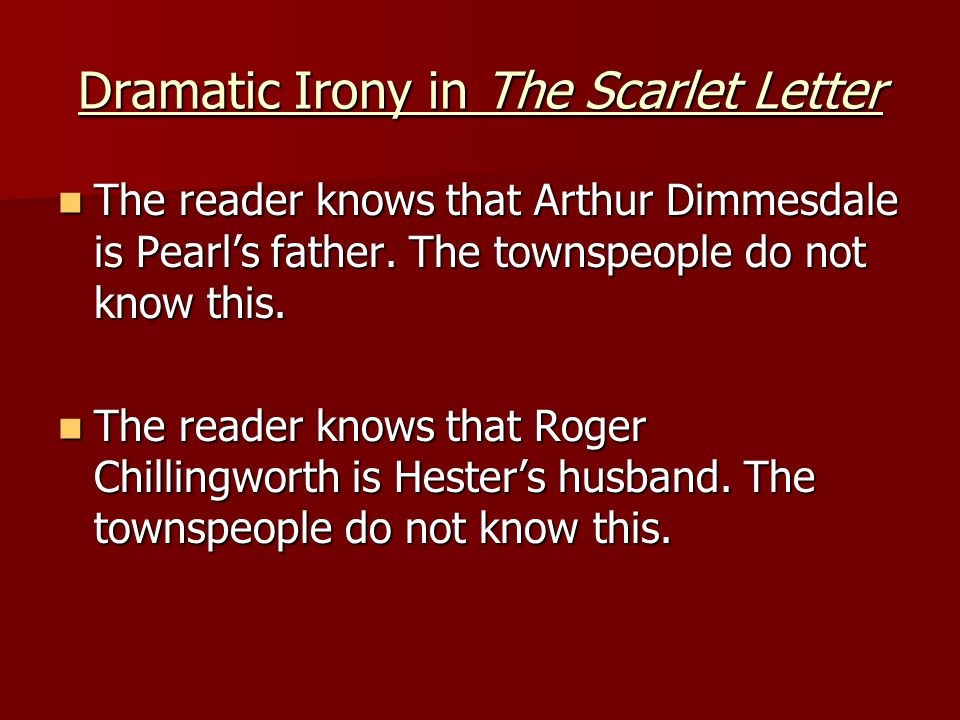 A web of irony in the scarlet letter by nathaniel hawthorne