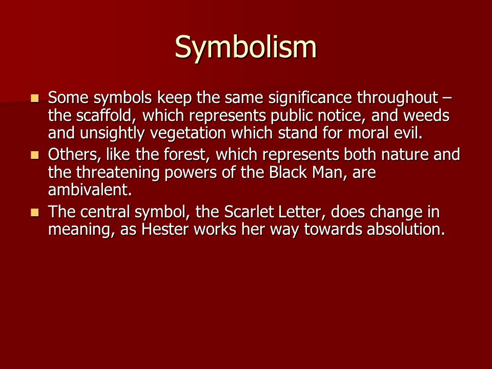the main theme and symbol in the scarlet letter by nathaniel hawthorne
