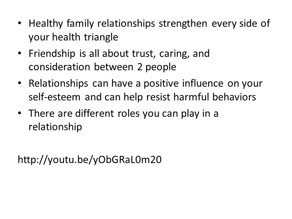 Healthy family relationships strengthen every side of your health triangle