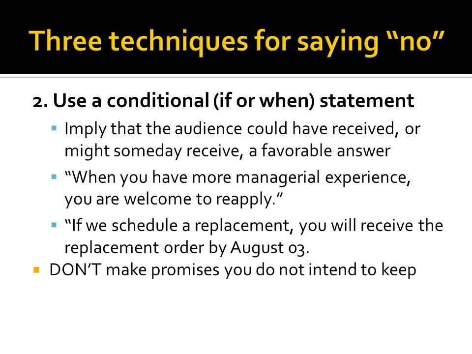 Writing negative news messages ppt download for Statements that will blow your mind