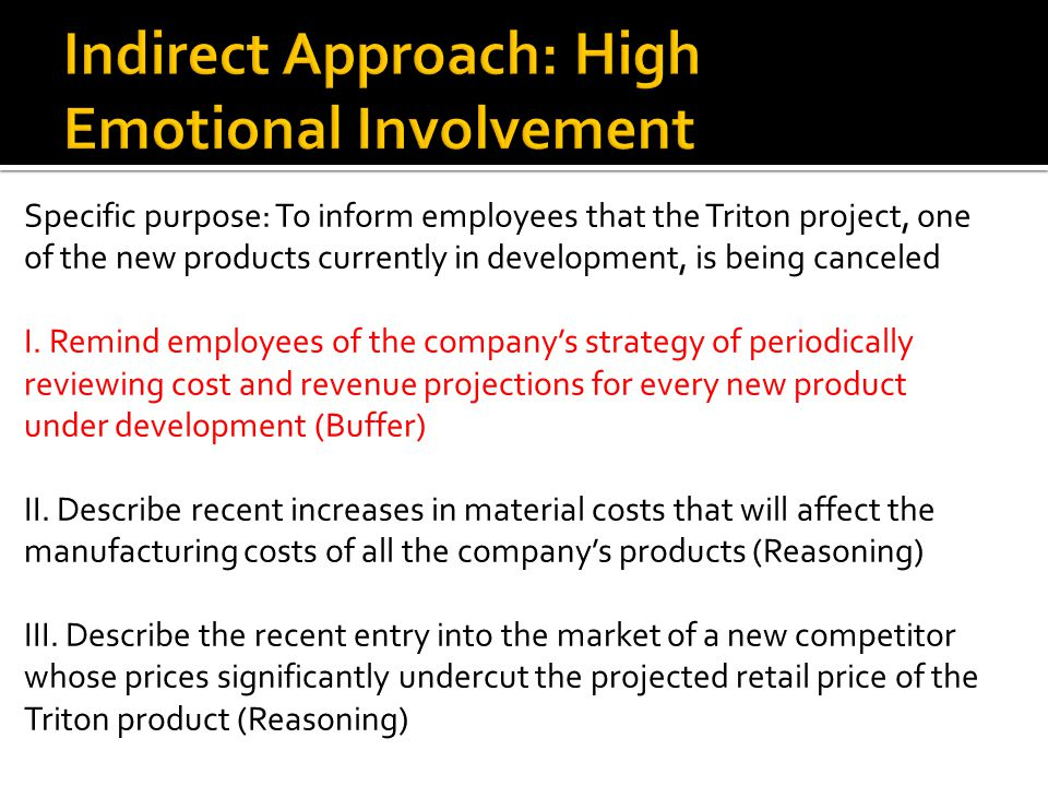 Writing negative news messages ppt download 21 indirect approach high emotional involvement spiritdancerdesigns Images
