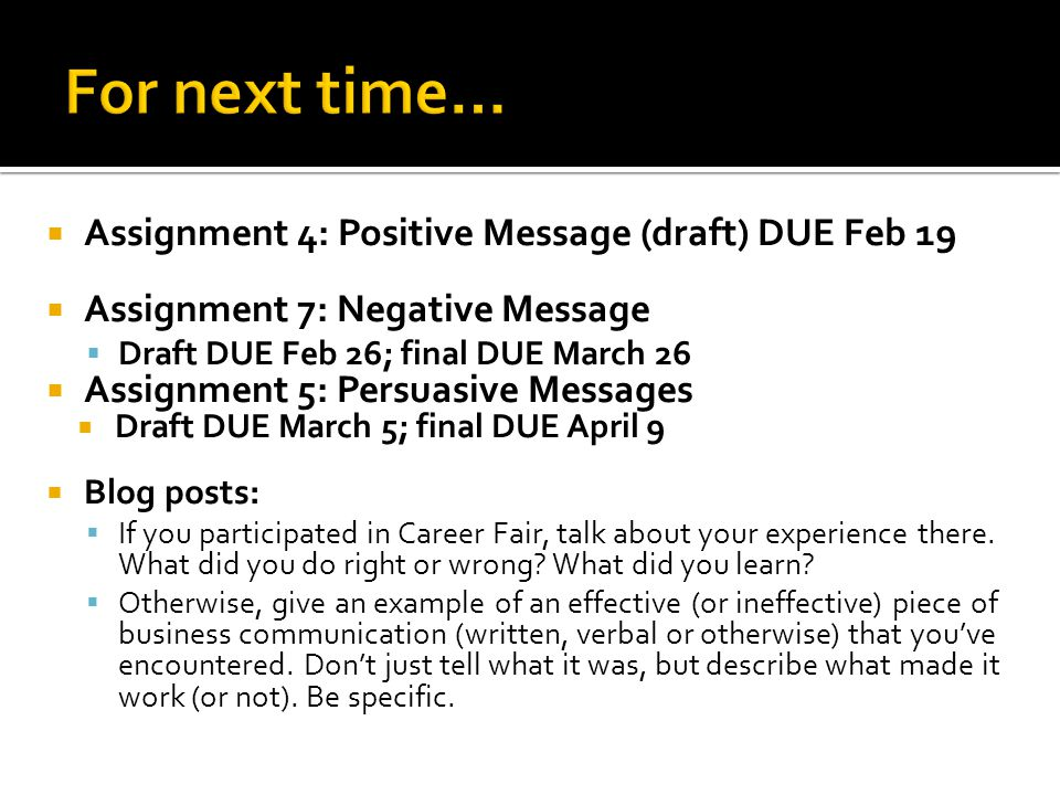 Writing Negative News Messages - ppt download
