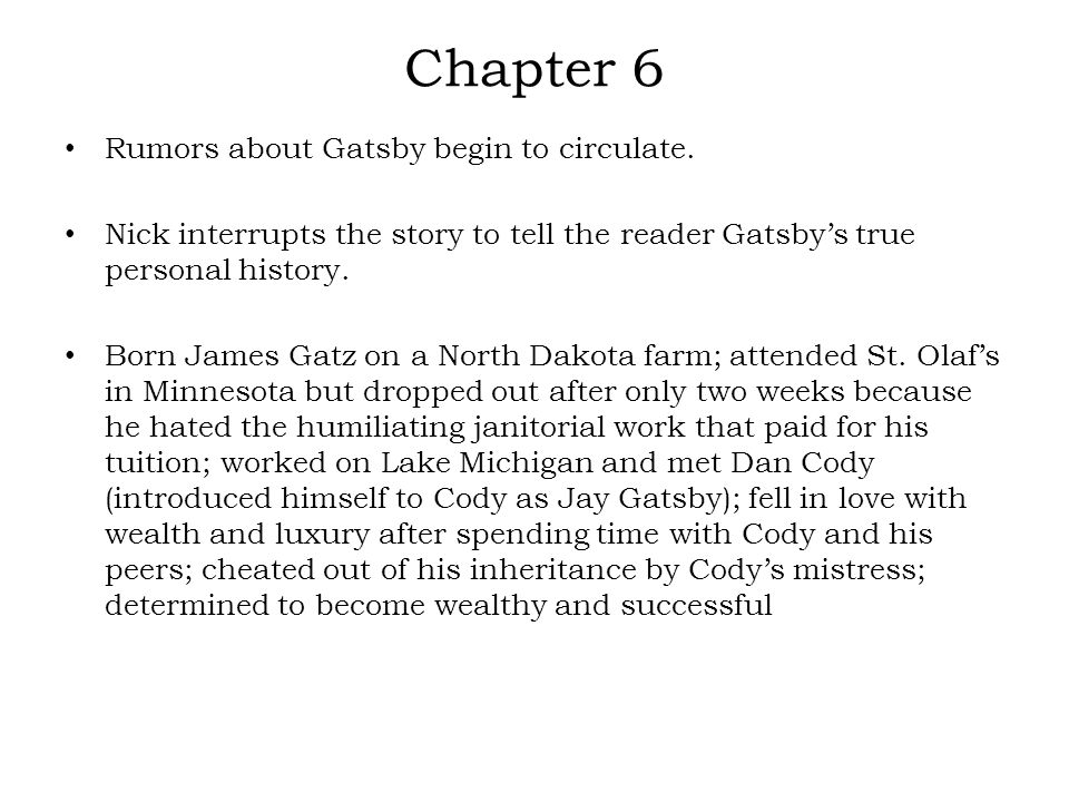 the great gatsby chapter 18 summary A summary of chapter 1 in f the great gatsby chapter 9 discussion questions and answers scott fitzgerald's the great gatsby learn exactly what happened in this.