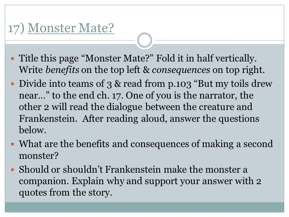 describe the relationship between frankenstein and monster