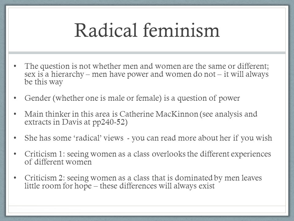 what is feminism analysis Feminist criticism of health care and ofbioethics has become increasingly rich   health care analysis  bioethics egalitarianism feminism justice theory.