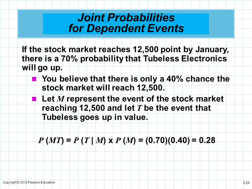 Probability concepts and applications ppt download joint probabilities for dependent events ccuart Gallery