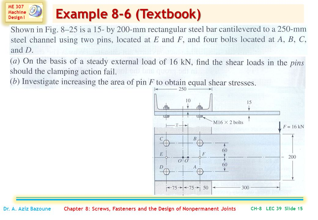 Example 8-6 (Textbook) Dr. A.