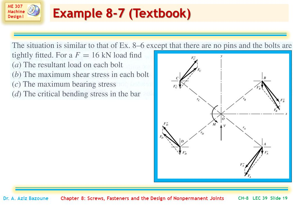 Example 8-7 (Textbook) Dr. A.