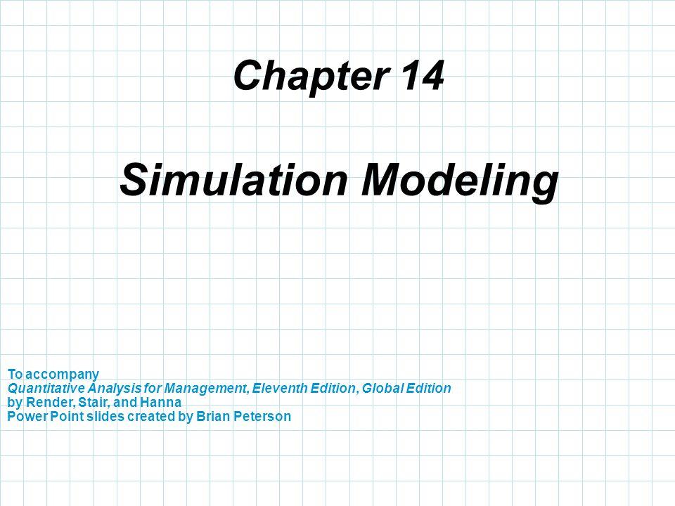 Simulation Modeling Chapter 14