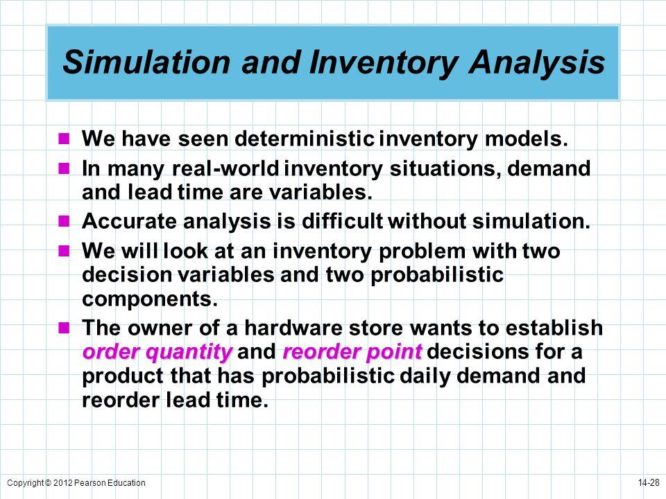 Simulation and Inventory Analysis