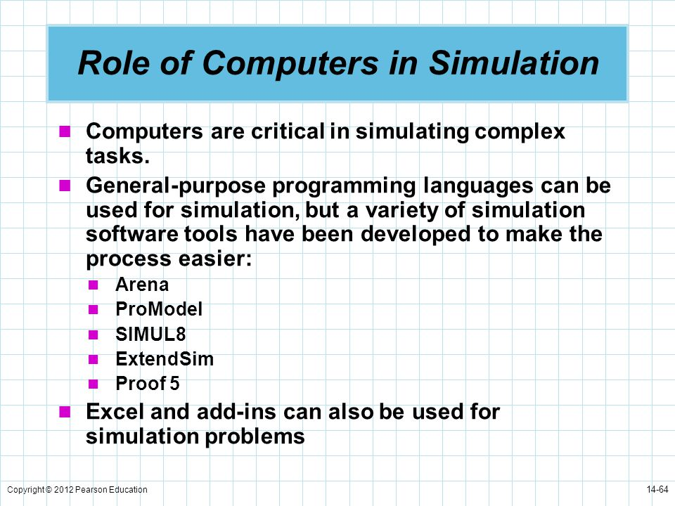 Role of Computers in Simulation