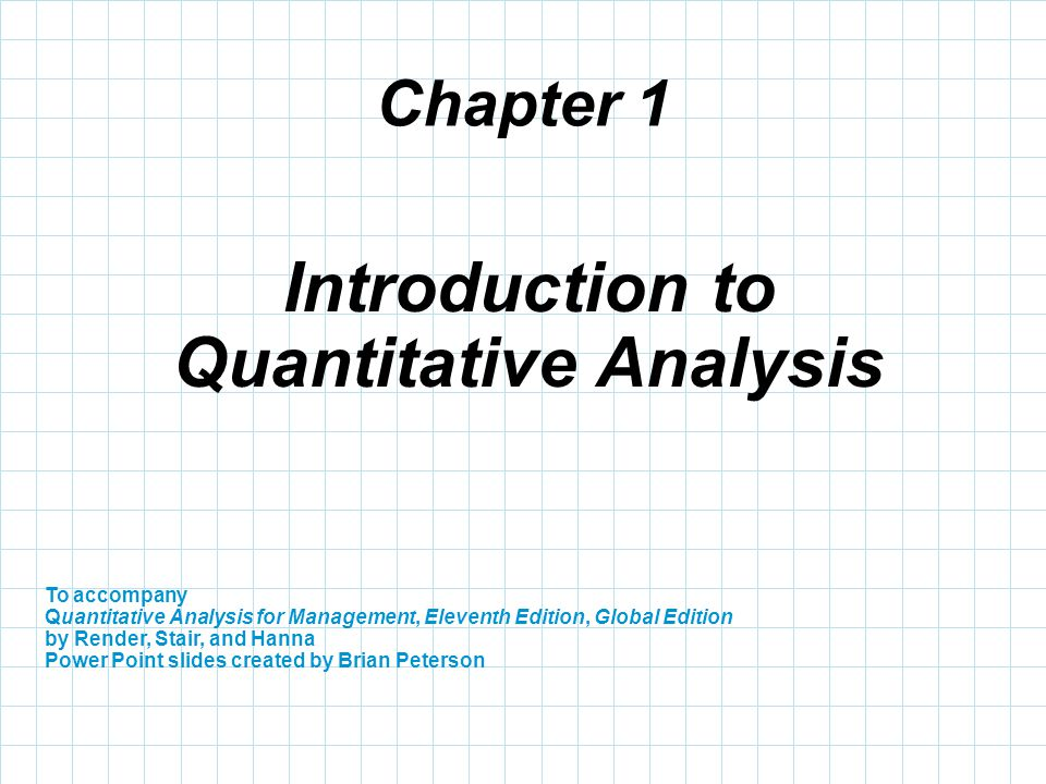 Quantitative Analysis QuantitativeAnalysisExample Sample