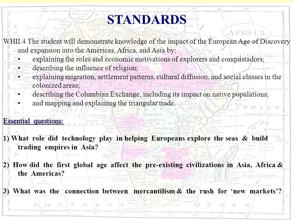 The first global age (1450-1700 essay