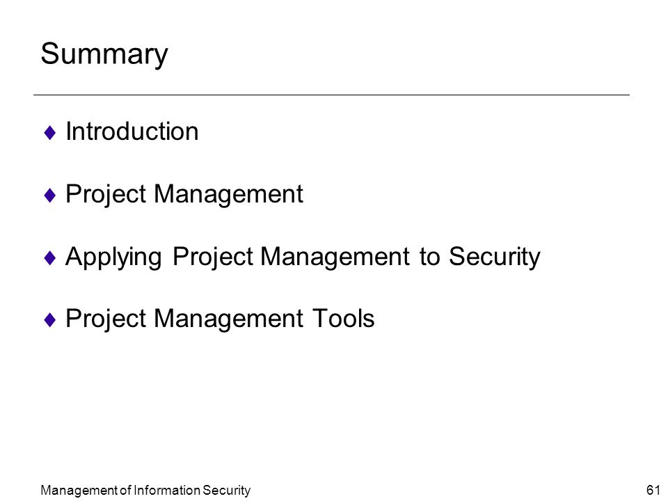 A Brief Introduction to Project Management