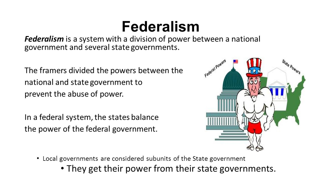 federalism and the balance of the state and federal government States and the federal government continue to forge an interactive relationship of  conflict  explain how political processes relate to checks and balances.