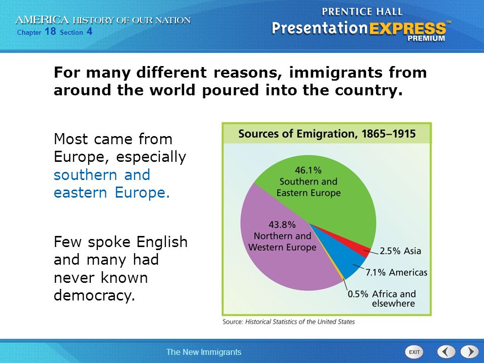 Reasons motivate people immigrate united states