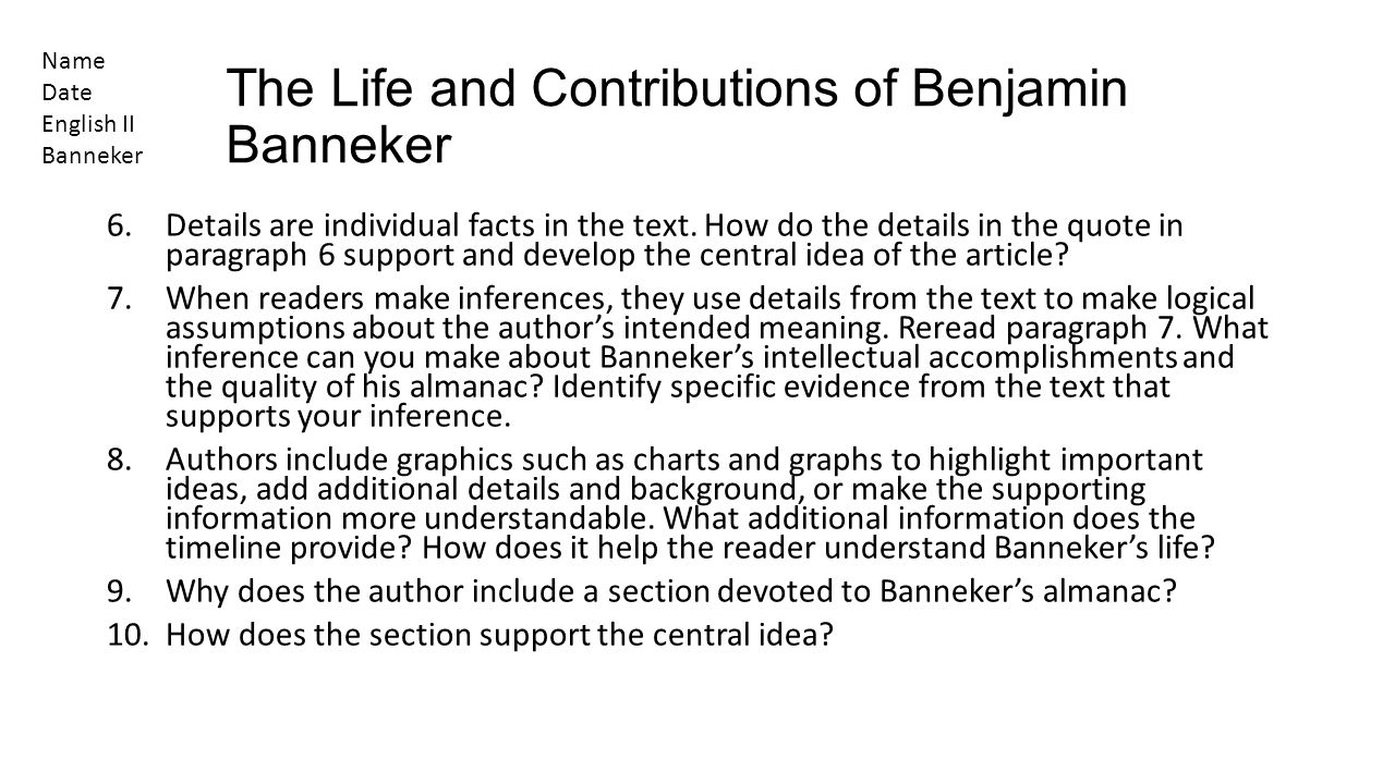 Benjamin Banneker Inventions and Accomplishments