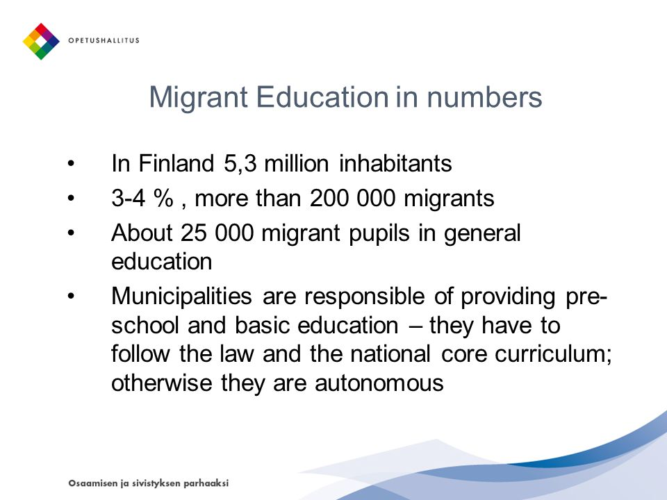 Migrant Education in numbers