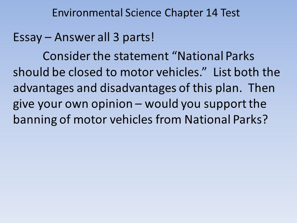 Environmental Science Chapter 14 Test - ppt video online download