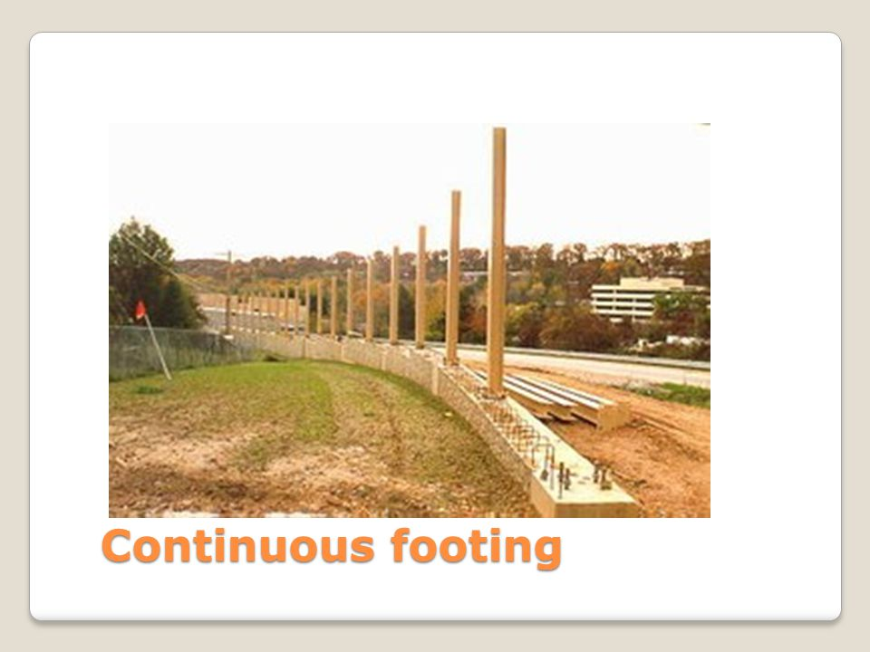 Continuous footing
