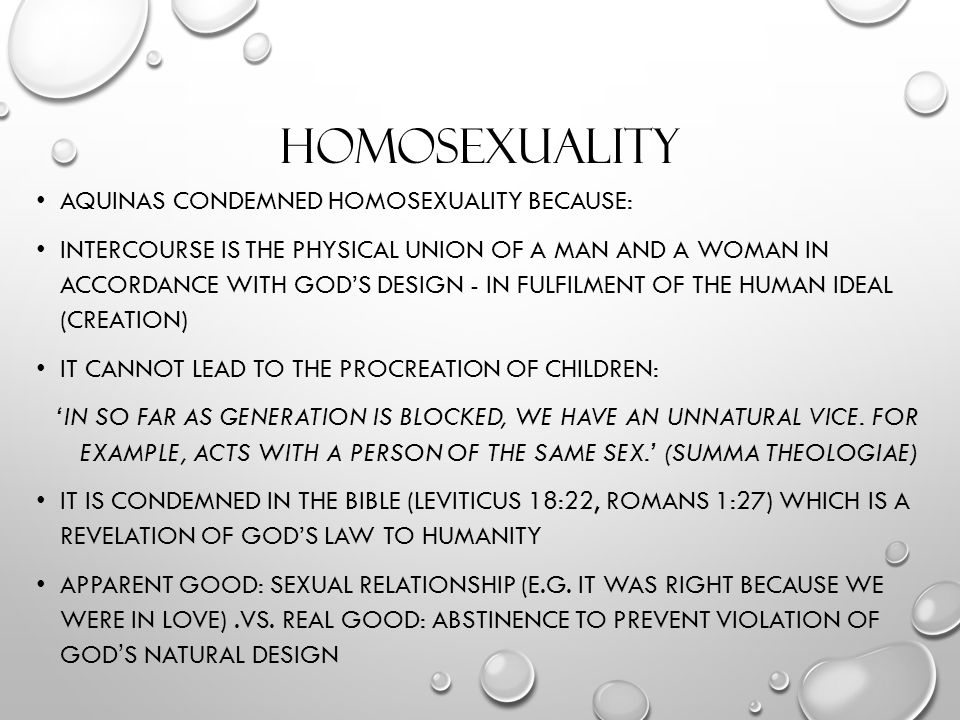 natural law and sexual ethics by Declaration on certain questions concerning sexual ethics as a proof of their assertion they put forward the view that so-called norms of the natural law.