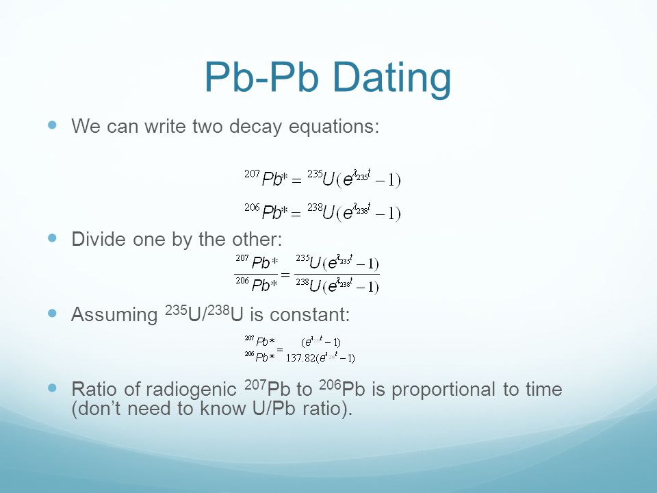 u pb age dating equation