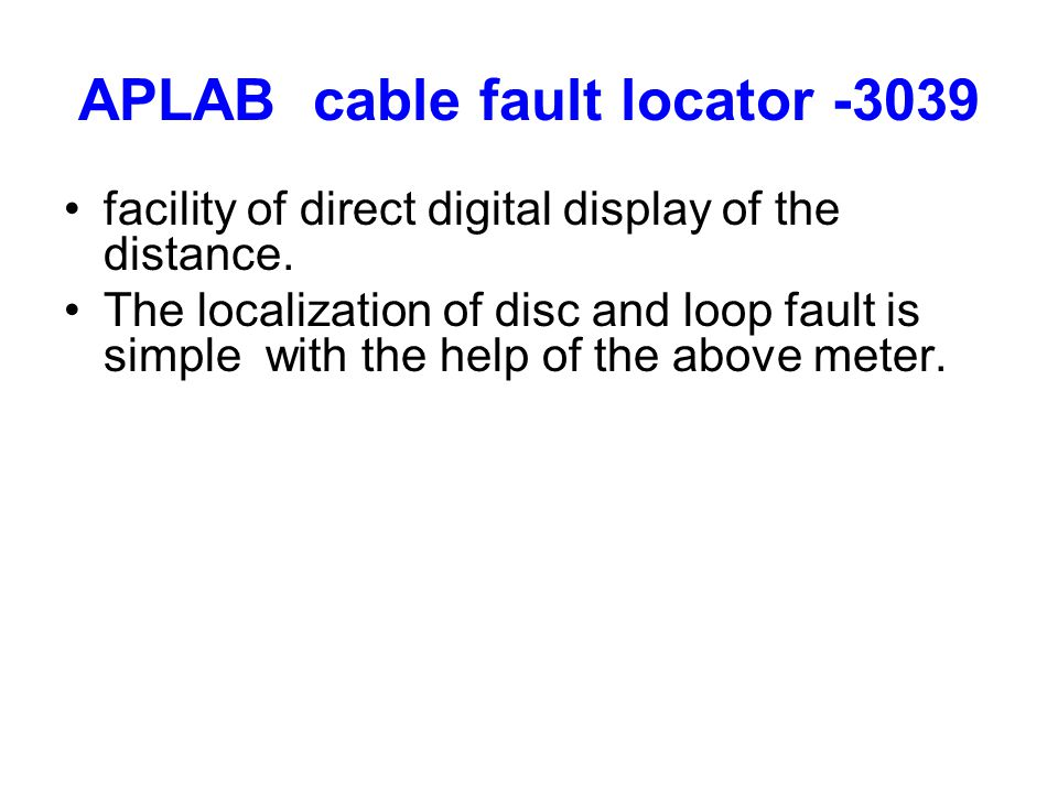 Cable Fault Locator On Line : Cable fault localisation ppt video online download