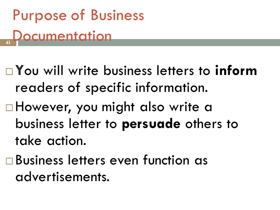 The Purpose of Writing a Business Letter