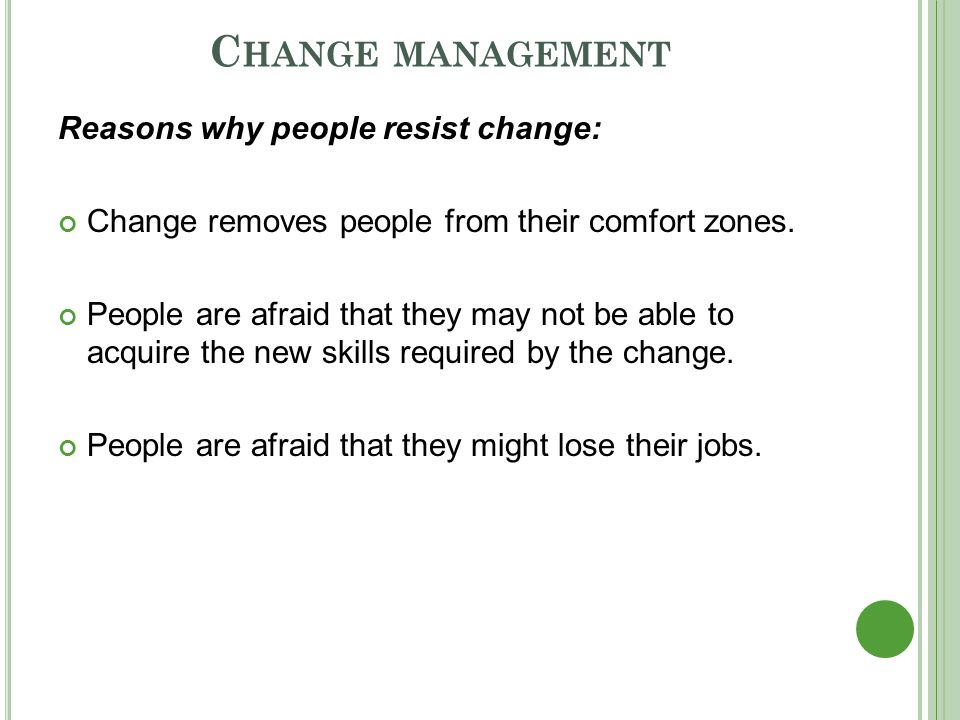 Why change jobs?