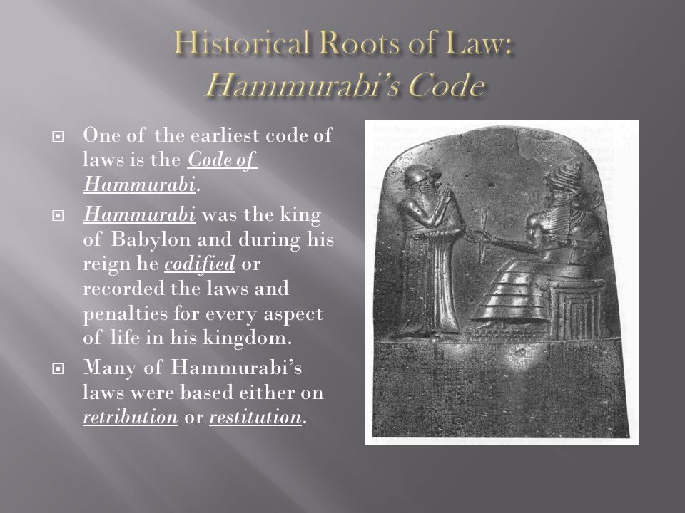 the impact on society of the hammurabi code of laws The code of hammurabi is a well-preserved babylonian code of law of ancient mesopotamia, dated back to about 1754 bc (middle chronology) it is one of the oldest deciphered writings of significant length in the world the sixth babylonian king, hammurabi, enacted the code a partial copy exists on a 225 metre (75 ft) stone stele.