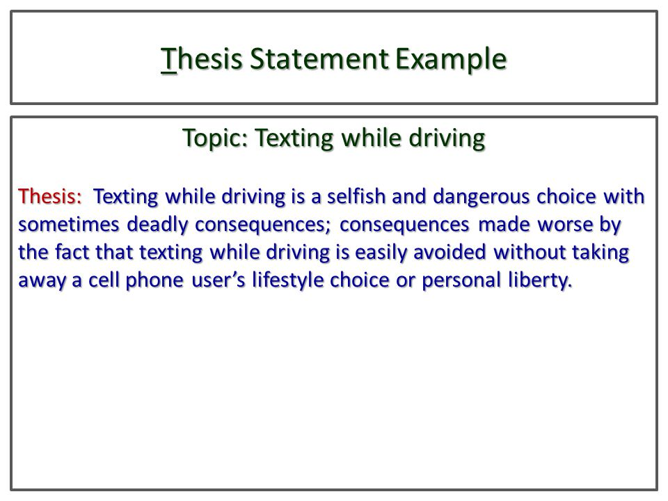 Thesis statement on cell phone dangers