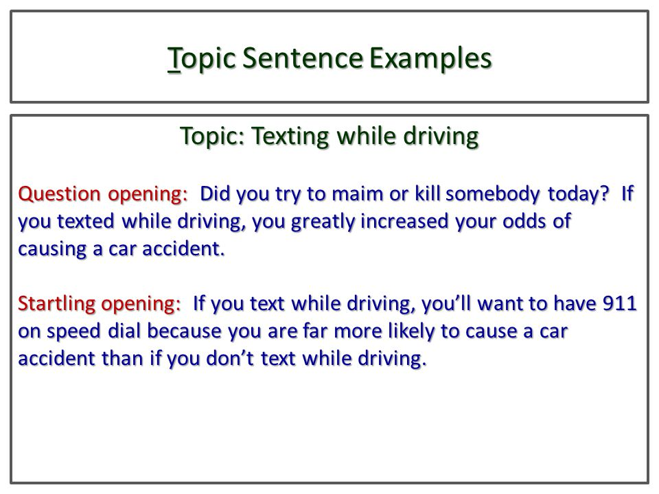 texting while driving essay conclusion Law enforcement officers look for ways to reduce texting while driving this sample essay explores the problem and possible solutions cell companies can take.