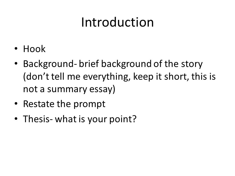 example of story essay
