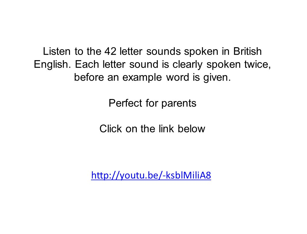 Listen to the 42 letter sounds spoken in British English