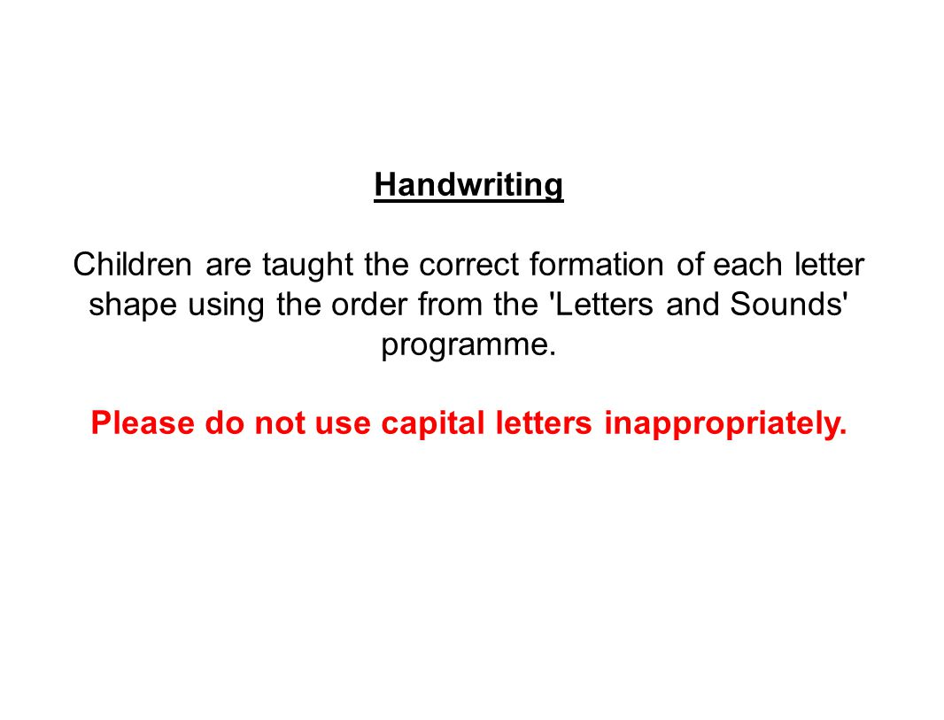 Please do not use capital letters inappropriately.