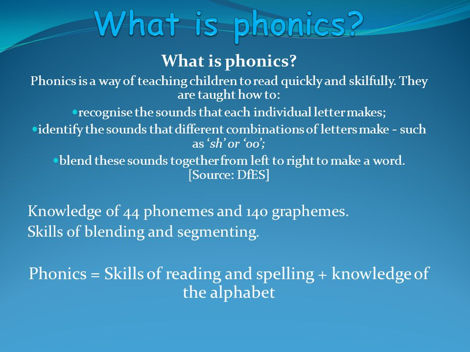 What is phonics What is phonics