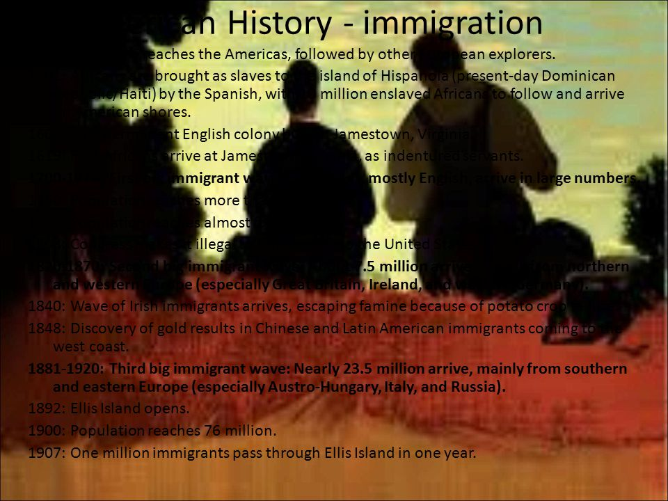 a history of the great wave of immigration in the united states Immigrants in the united states ii immigrants in the united states each of the four major waves of immigration to the united states has had very different origins from the colonial period to roughly 1880, in what was the first major period of us immigration, most immigrants came from northern europe, especially england,.