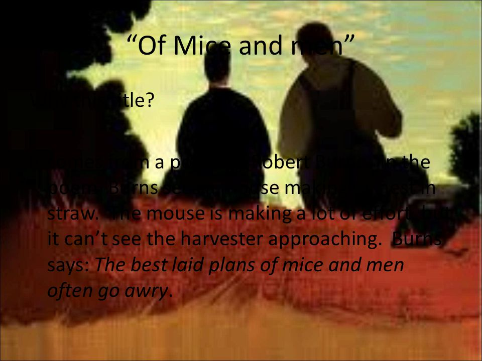 of mice and men 31 essay