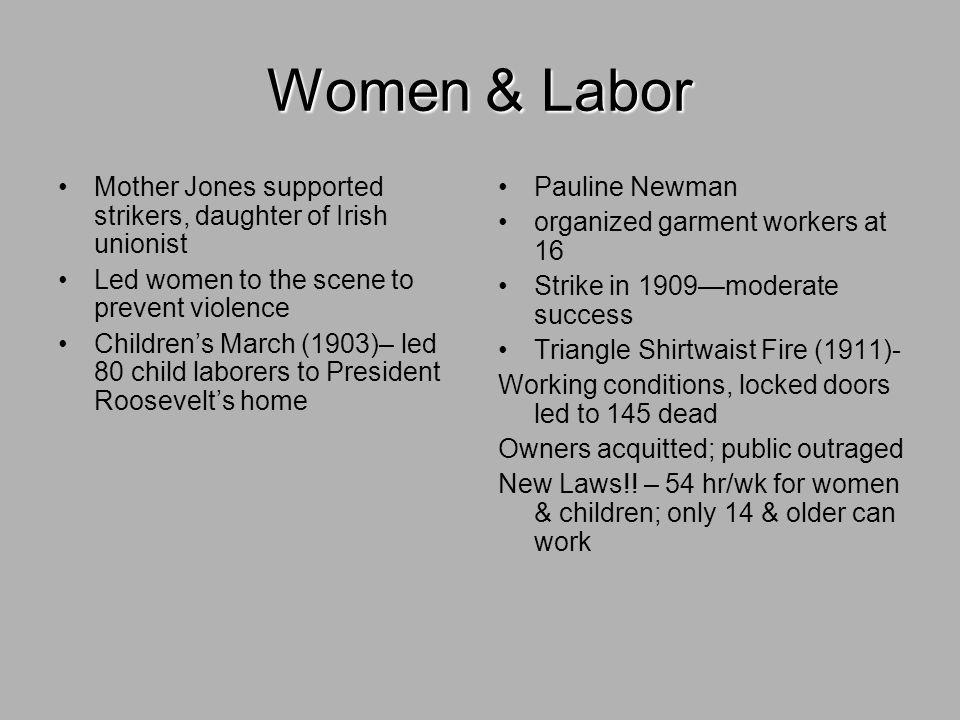 success of organized labor from 1875 1900 Failures to improve position of workers 1875-1900 • most unions collapsed -- nlu, knights, aru - esp during depressions • most women & minorities were not accepted into organized labor.