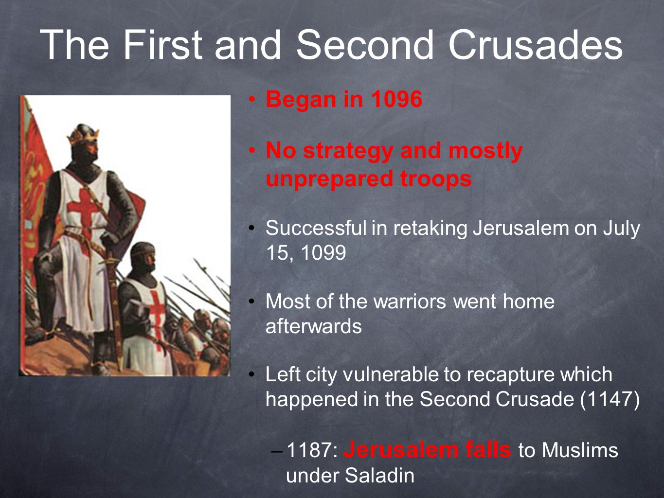 The First and Second Crusades