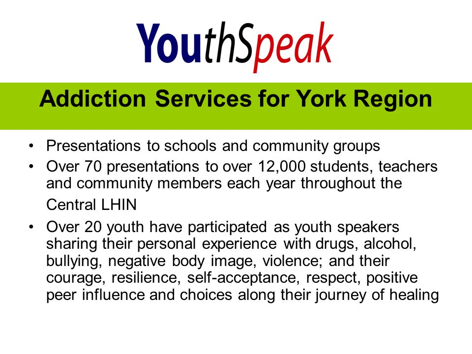 Addiction Services for York Region