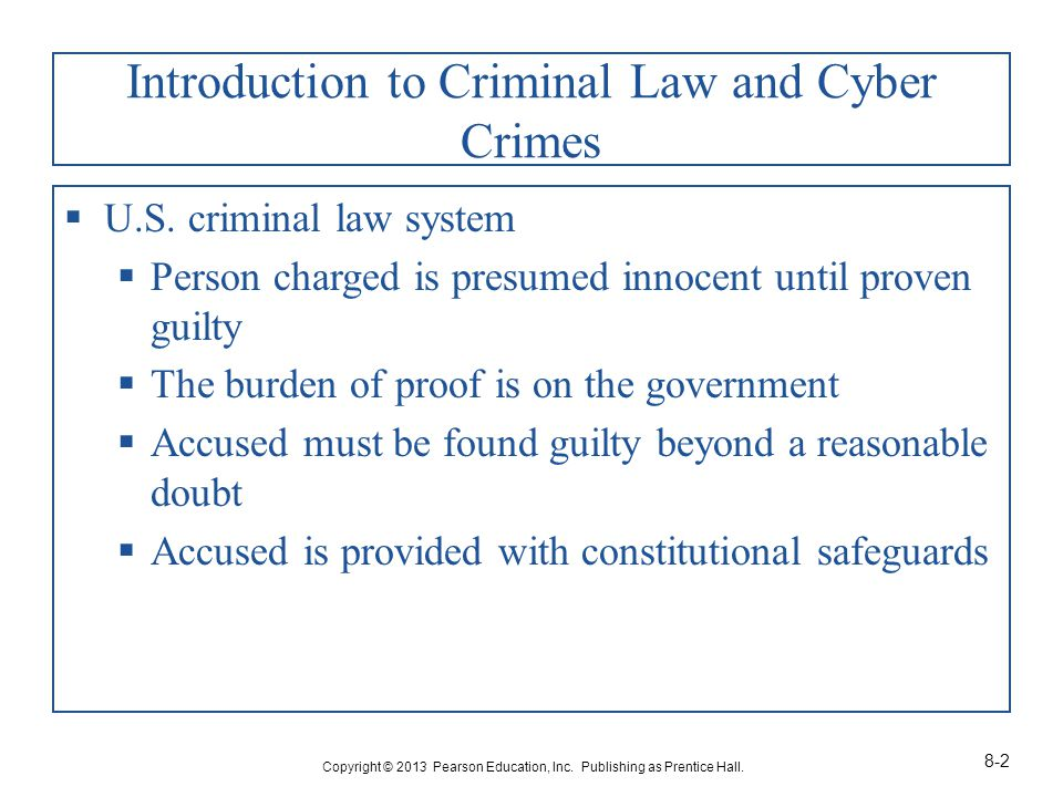 Introduction to Criminal Law and Cyber Crimes