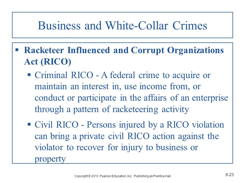 Business and White-Collar Crimes