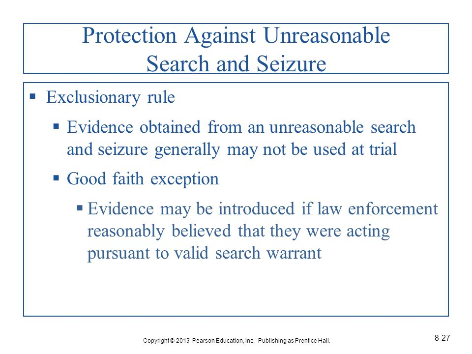 Protection Against Unreasonable Search and Seizure