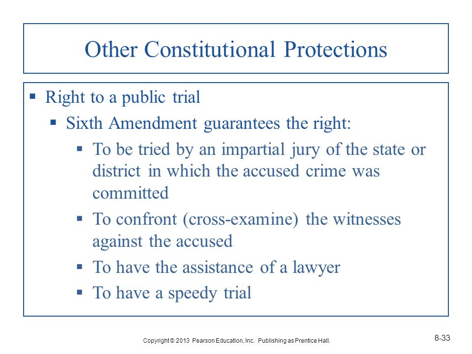 Other Constitutional Protections