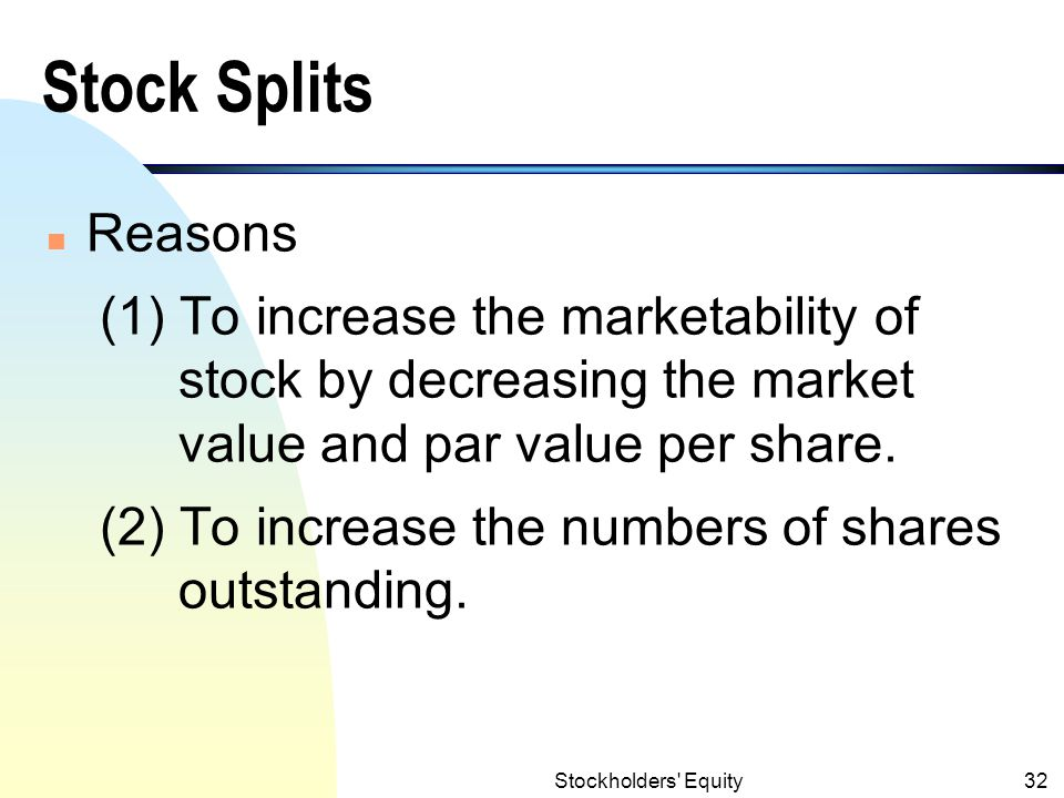 Stock Splits Definition (Share Split)