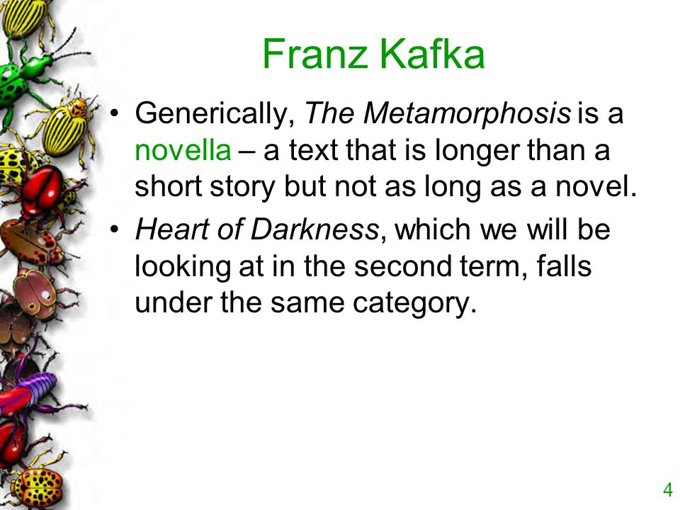 the theme of family in metamorphosis by franz kafka Introduction : the metamorphosis by franz kafka about franz kafka  themes sitemap family relationships  the whole family: at the beginning, you .