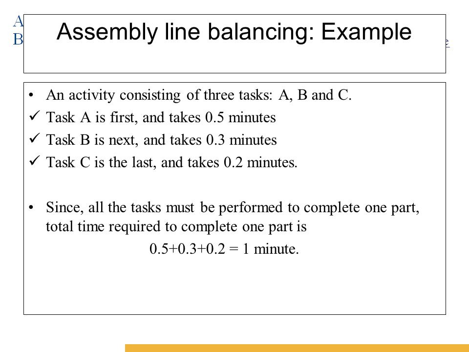 62259348 8 line balancing problems Assembly line balancing and sequencing  a metaheuristic approach to solve the alternative subgraphs assembly line balancing problem.