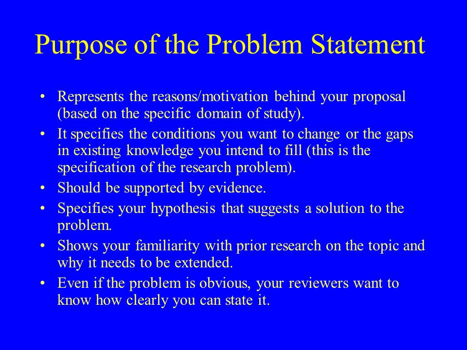 Purpose of a research proposal