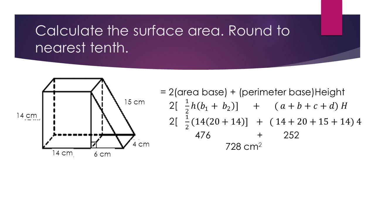 3 Calculate The Surface Area